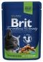 BRIT PREMIUM vištienos gabaliukai sterilizuotoms katėms 100 g